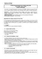 Conseil Municipal AVRIL 2021